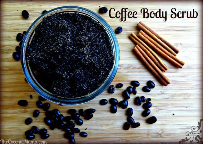 DIY spa coffee body scrub