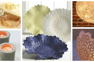 diy lace and doilie upcycle ideas