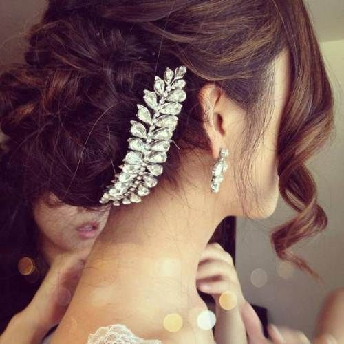 Updo With Laid-Back Hairpiece