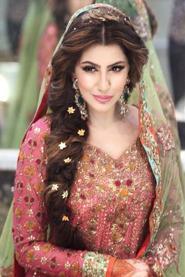 Indian Bridal Hairstyles Long Wavy Down Do With Medium Curls
