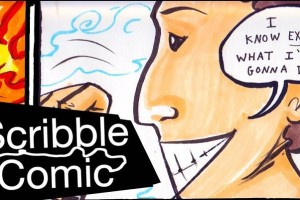 Mary Makes Awesome Comic Strips From Random Scribbles In Just Two Minutes