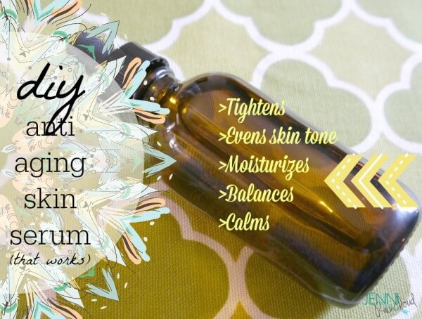DIY spa anti aging skin serum
