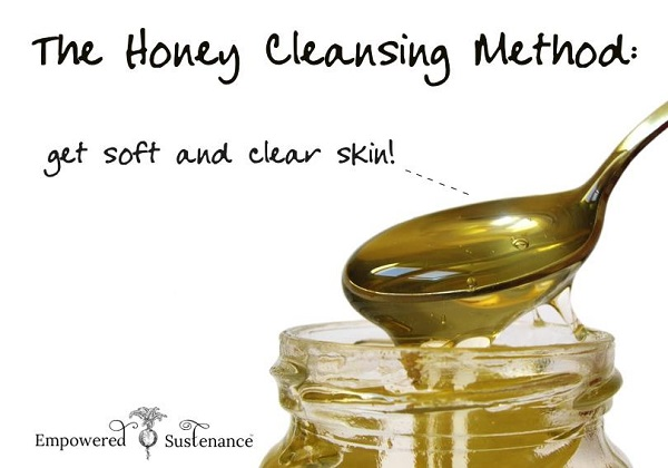 DIY spa honey washing facial