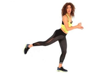 Do Squat With Kickback For Toned Legs And Sexy Butt!