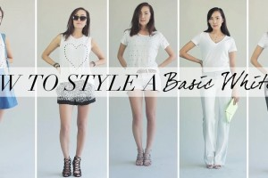 How to style a basic white T-shirt for different looks