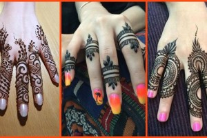 Elegant and unique finger mehndi designs