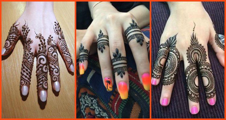 Mehndi On Fingers Only : Elegant and unique finger mehndi designs