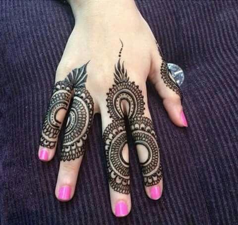 Elegant and unique finger mehndi designs10