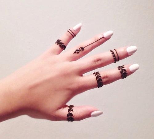 Elegant and unique finger mehndi designs2