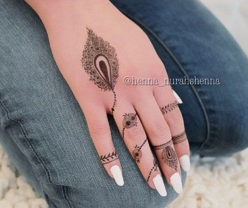 12 Elegant And Unique Finger Mehndi Designs