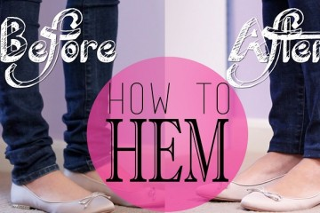 How to Hem Jeans, Shorts, or Skirts At Home