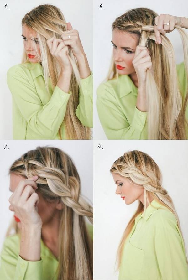 Loose Side French Braid Hairstyle Tutorial