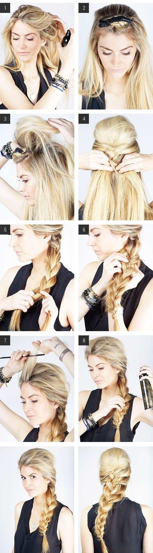 Swept Side Braid Hairstyle Tutorial