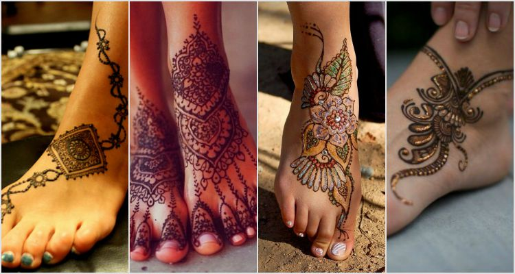 Leg Side Mehndi Design : Mehndi designs lag makedes