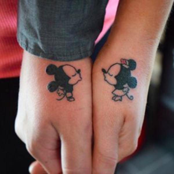 Matching Couple Disney Tattoos