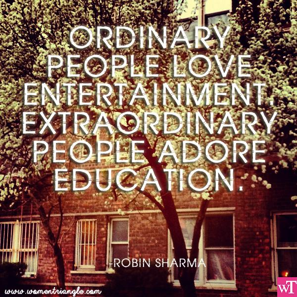 ORDINARY PEOPLE LOVE ENTERTAINMENT EXTRAORDINARY PEOPLE ADORE EDUCATION