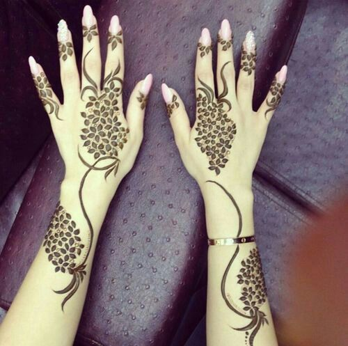 exquisite mehndi design 5