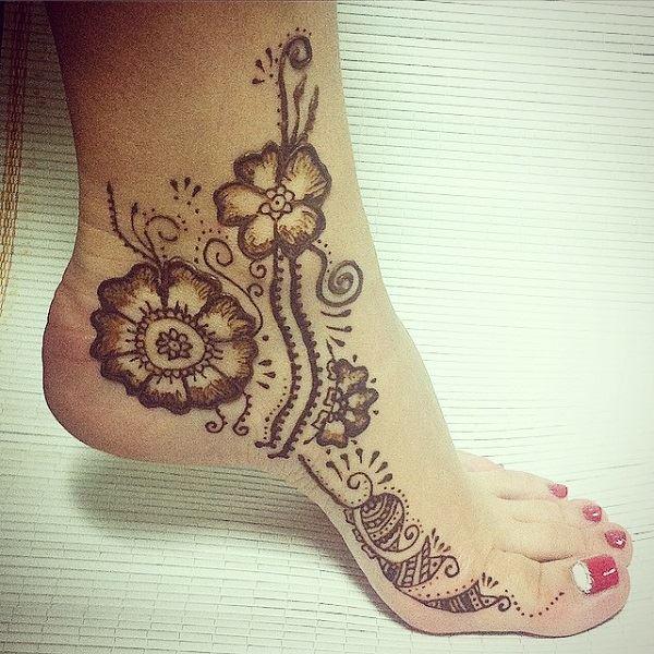 Kids Leg Mehndi Design : Outstanding leg mehndi designs womentriangle