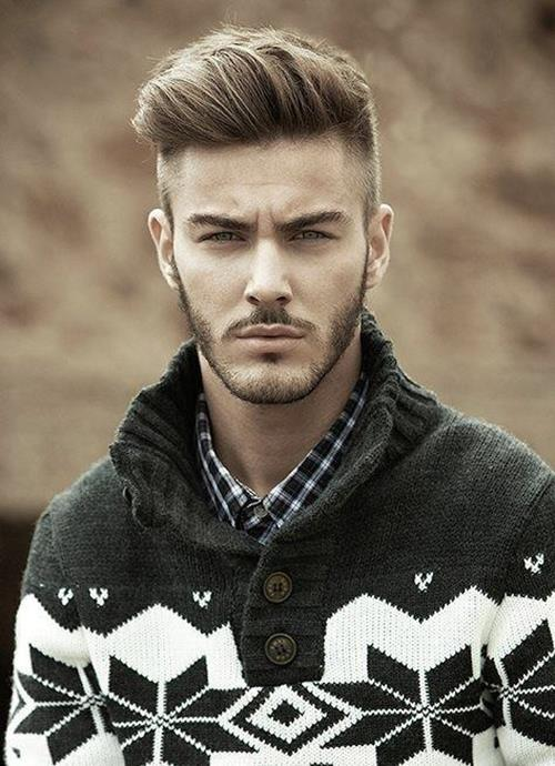 Perfect undercut hairstyle for a guy with short beard