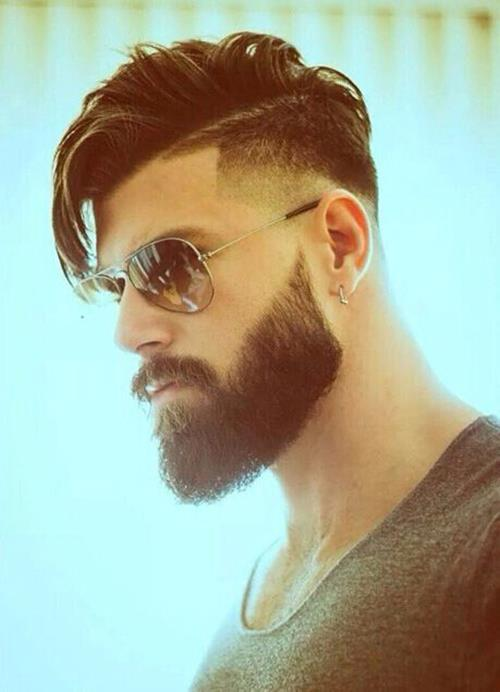 A undercut for the well groomed beard