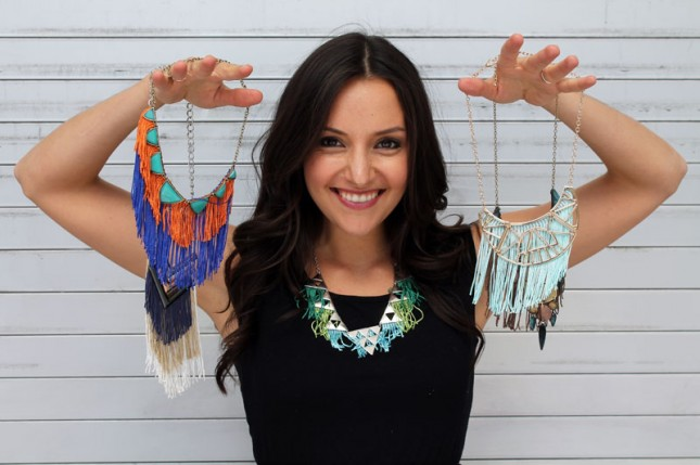 Fringe statement necklaces