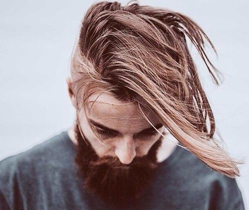 A undercut with a long hair