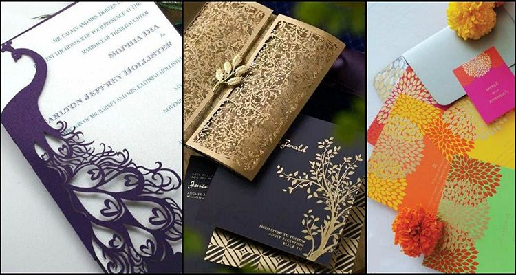 Unique and creative wedding card designs of every style for Laser cut wedding invitations in chennai