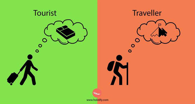 a tourist or a traveller