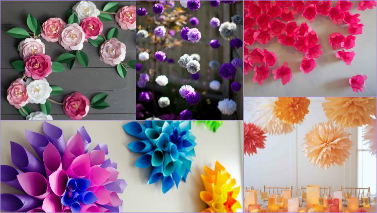 10 Paper Flower Decoration Styles That Will Make Any Place Look Marvy