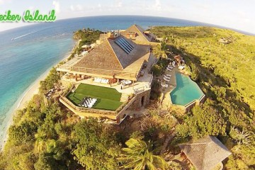 necker island top view