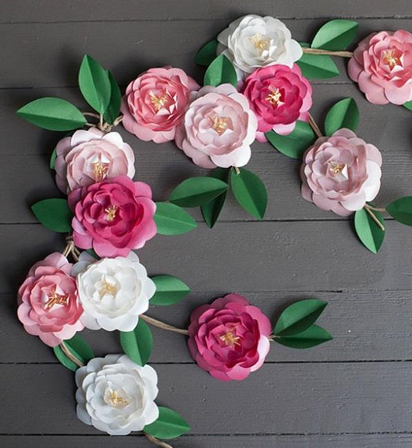 10 paper flower decoration styles that will make any place look marvy paper camellia flowers mightylinksfo