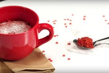 red velvet microwave mug cake