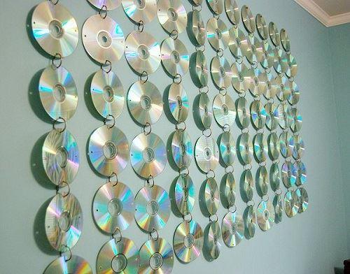CD hangings for teen room