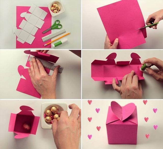 Gift Box With A Heart Ideas