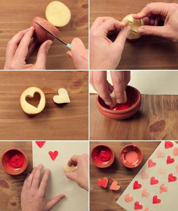 Potato Heart Print