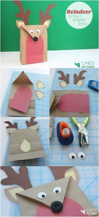 Reindeer Paper Bag