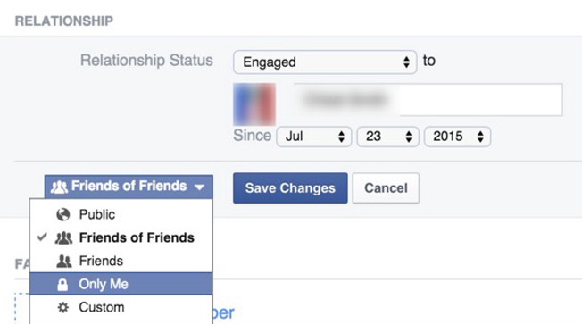 Facebook hacks - Relationship status