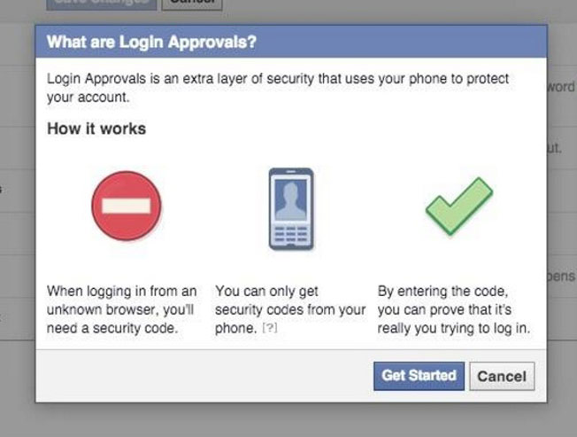 Facebook hacks - Login approvals