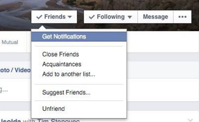 Facebook hacks - get notifications