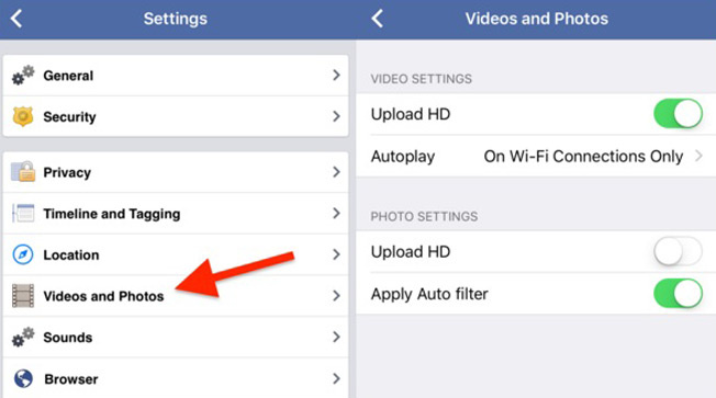 Facebook hacks - Turn off auto video play