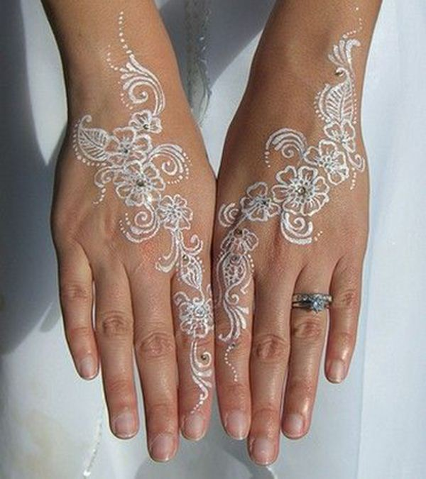White Mehndi Tattoo : Stunning white henna designs for you
