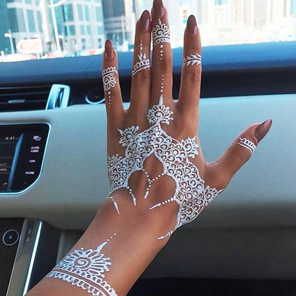 19 Stunning White Henna Designs For You