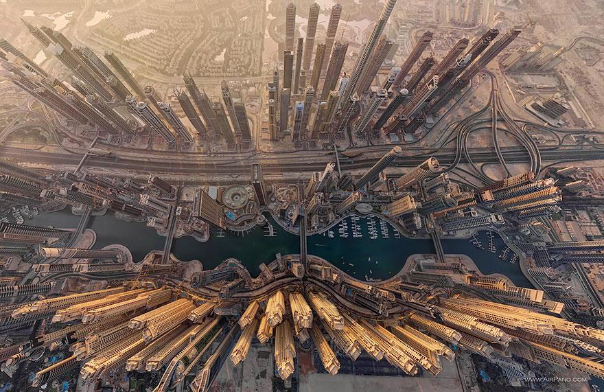 Dubai Marina UAE top view