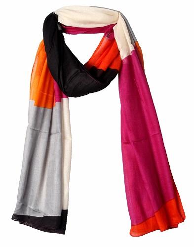 Multicolor viscose scarf