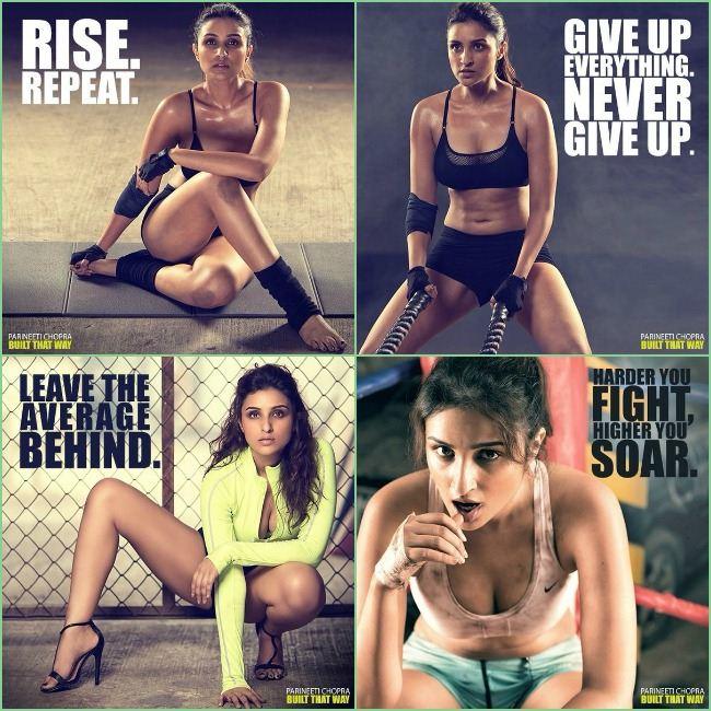 Pareenti Chopra Built That Way Campaign Photoshoot