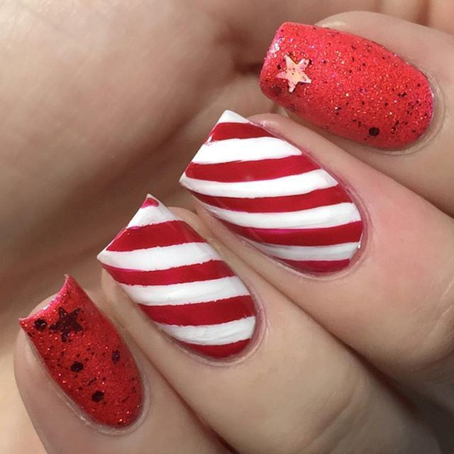 red strip nails