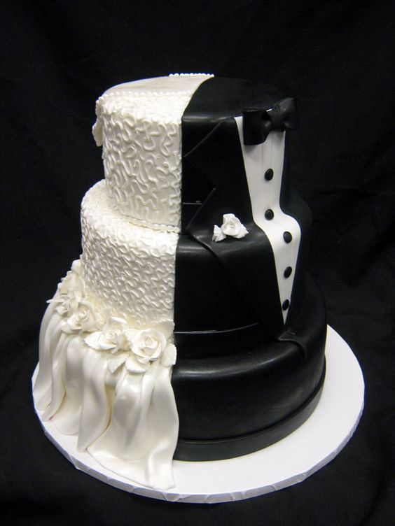 Bride and Groom wedding cake