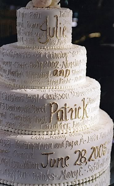Descriptive wedding cake