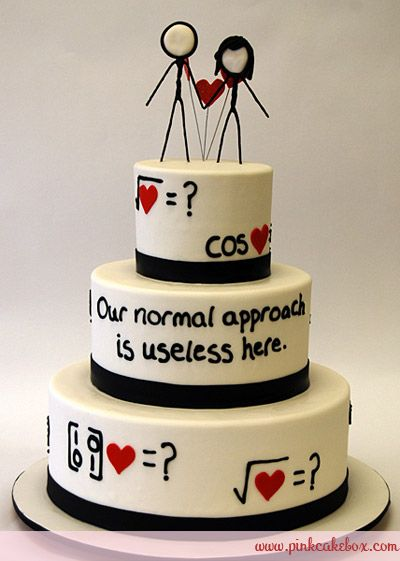 Logical love wedding cake