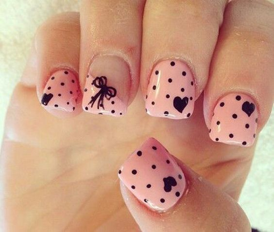 Heart Nail Art: 50 Different Polka Dots Nail Art Ideas That Anyone Can DIY
